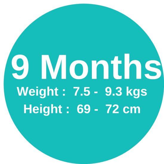 9m (7.5-9.3kgs)
